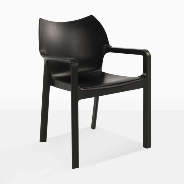 Black Cape Chair - angle