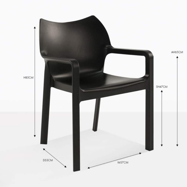 cape black dining chair