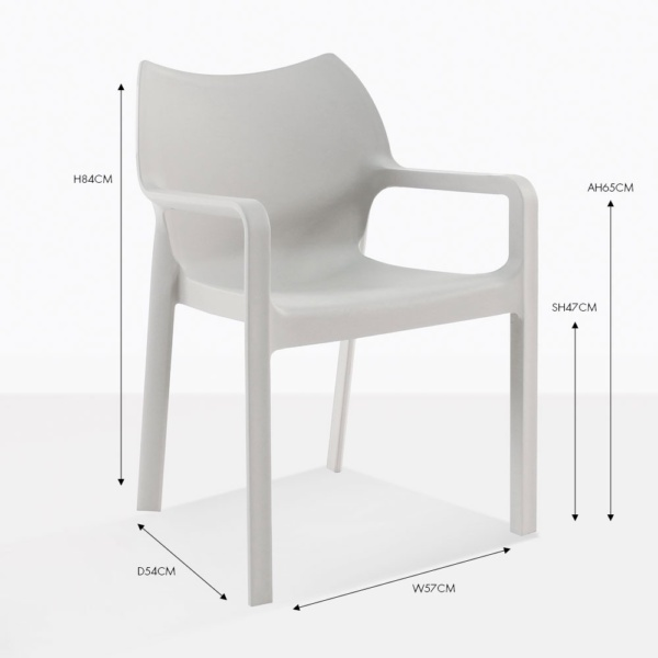 cape grey outdoor dining chair
