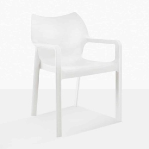 cape outdoor chair white angle