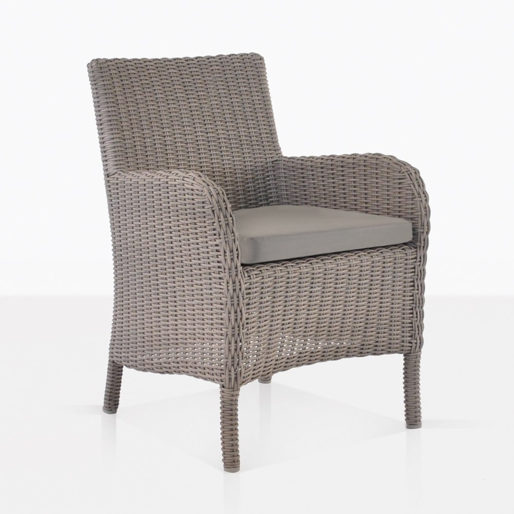 Cape Cod Wicker Dining Chair With Seat Cushion