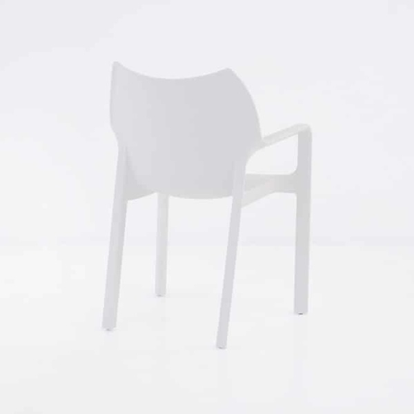 Cape Cafe Dining Chair (White)-1233