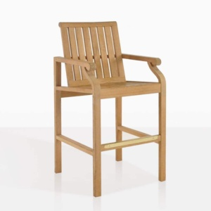 capri bar stool angle teak outdoor