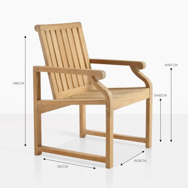 capri teak dining chair
