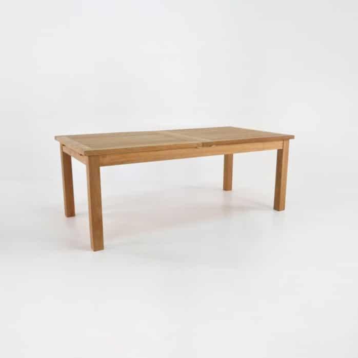 Capri Rectangle Teak Double Extension Dining Tables Design Warehouse NZ