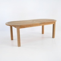 Capri Oval Teak Double Extension Tables-0