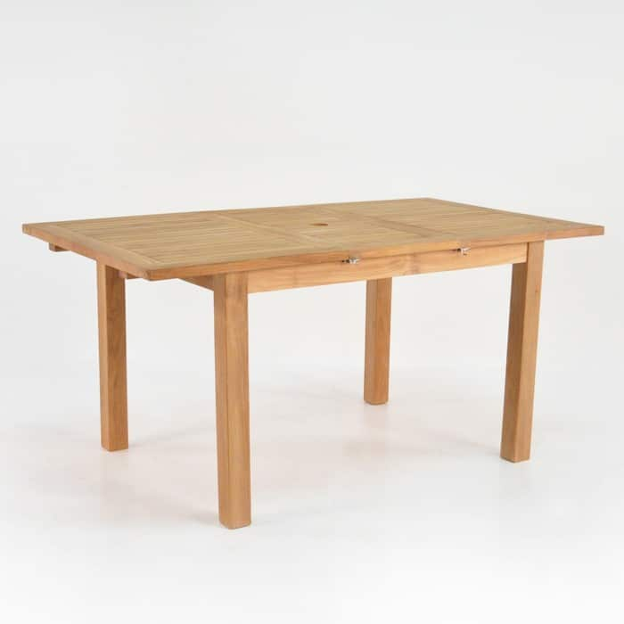 Capri Rectangle Teak Extension Outdoor Dining Table-0