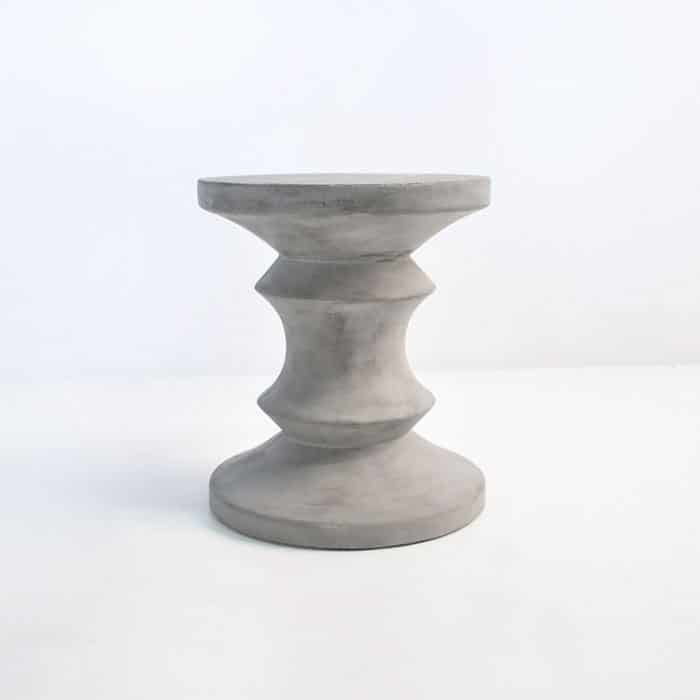Blok Concrete Chess Stool Side Table Outdoor Accent