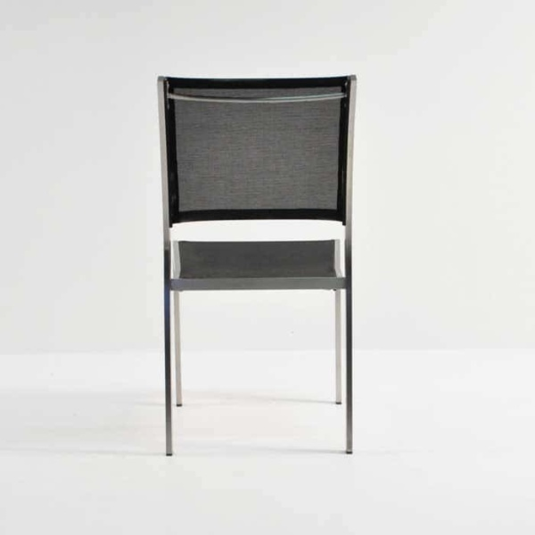 classic batyline® mesh stacking chair rear view