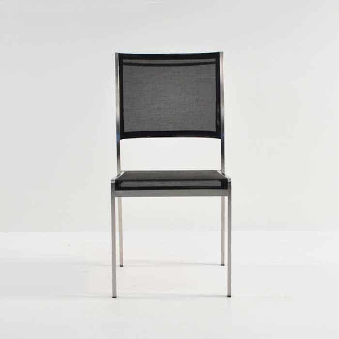 classic batyline® mesh stacking chair front view