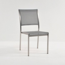 classic batyline® mesh stacking chair in gray colour