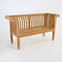 Cleopatra Teak Outdoor Bench