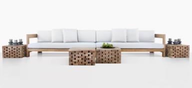 Amalfi A-Grade Teak Modular Sofa