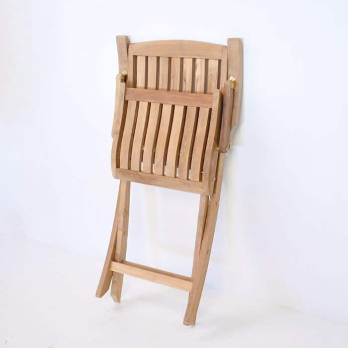como teak arm chair folded