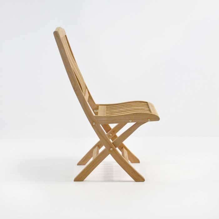 como teak folding side chair in a grade teak