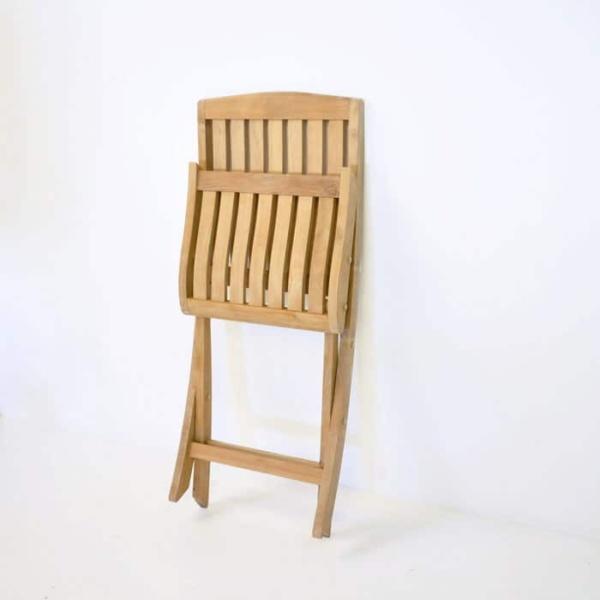 folded como teak side chair