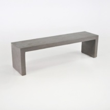 Raw Modern Lightweight Outdoor Concrete Bench-0
