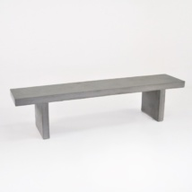 Raw Concrete Outdoor Bench