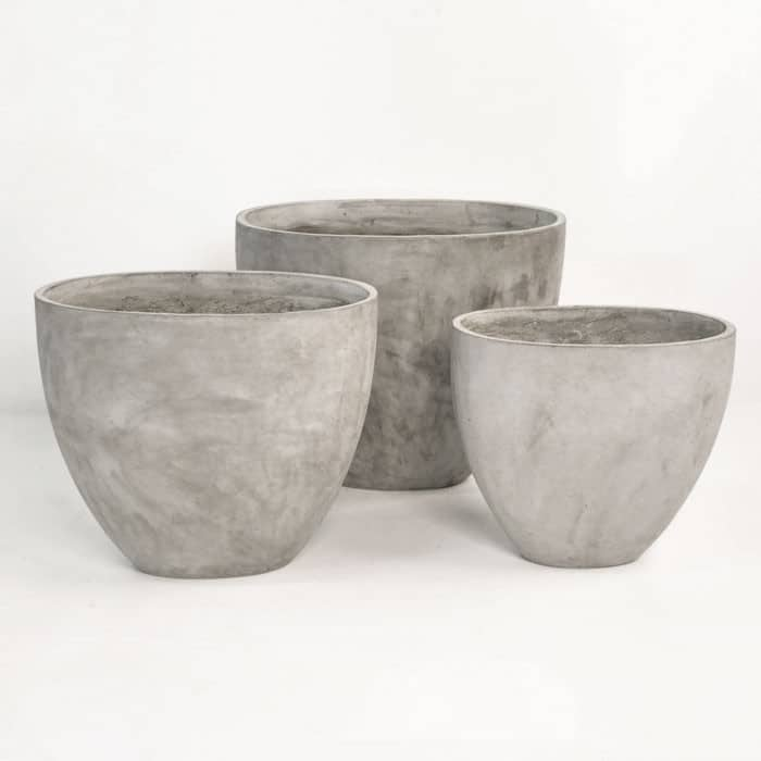 Brooklyn Concrete Planter (Oval)-1354