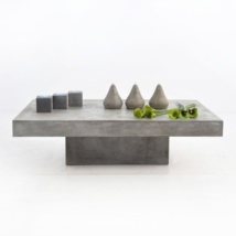 Blok Concrete Rectangle Coffee Table-0