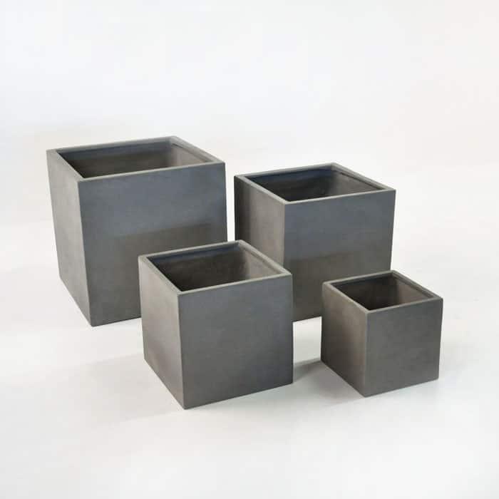 Raw Concrete Square Planters