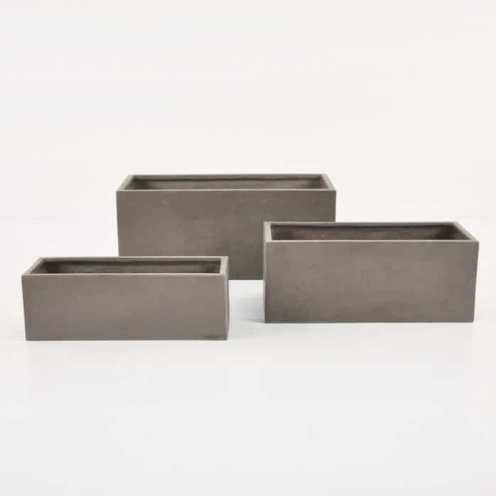 Raw Concrete Planter Rectangle Patio Accessories