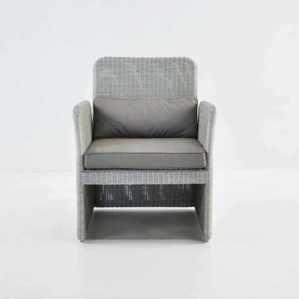 Cube Outdoor Wicker Club Chair (Stonewash)-634