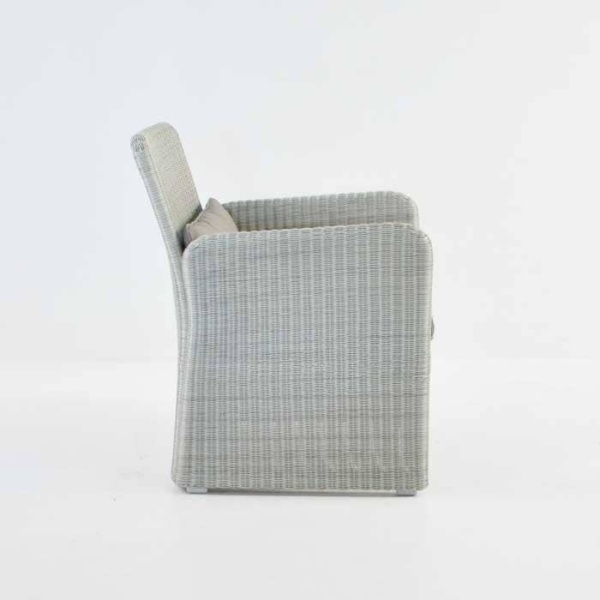 Cube Outdoor Wicker Club Chair (Stonewash)-635