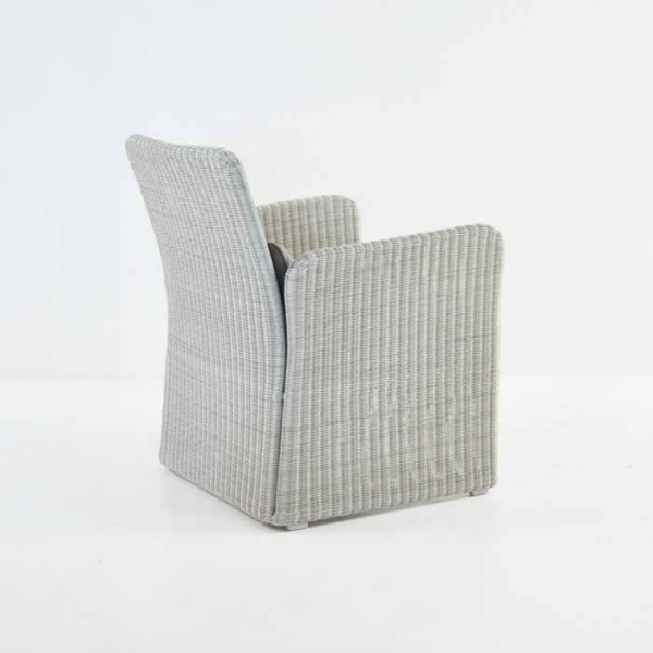 Cube Outdoor Wicker Club Chair (Stonewash)-633