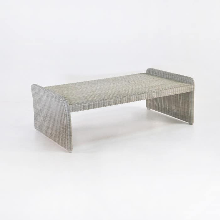 Cube Outdoor Wicker Coffee Table (Stonewash)-0
