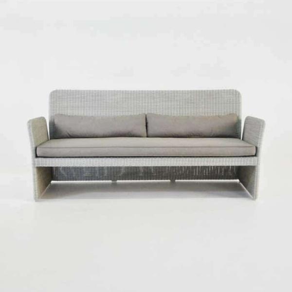 Cube Modern Outdoor Wicker Sofa (Stonewash)-637