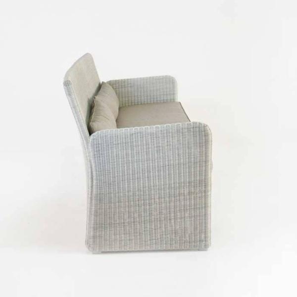 Cube Modern Outdoor Wicker Sofa (Stonewash)-639