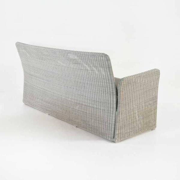 Cube Modern Outdoor Wicker Sofa (Stonewash)-638