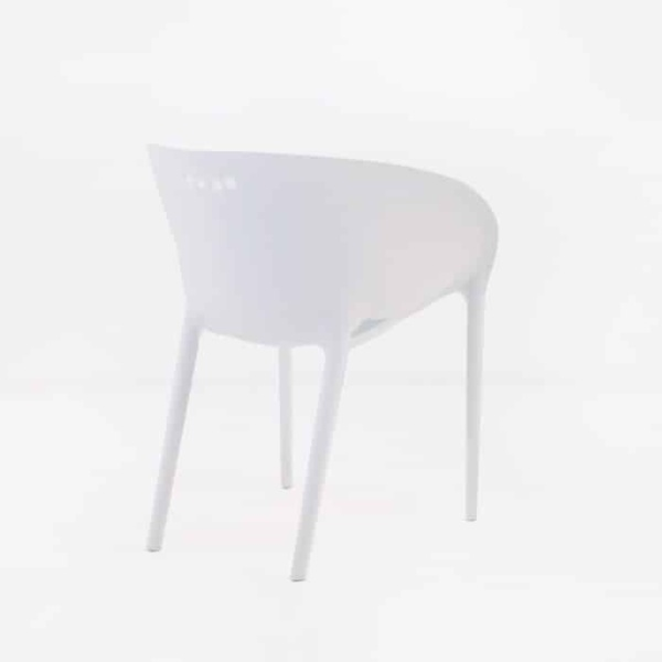 Curve Cafe Dining Chair (White)-1237
