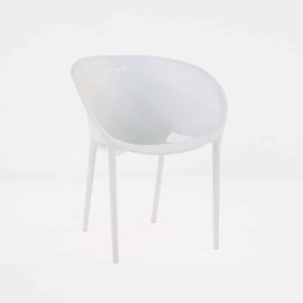 Curve Cafe Dining Chair (White)-0