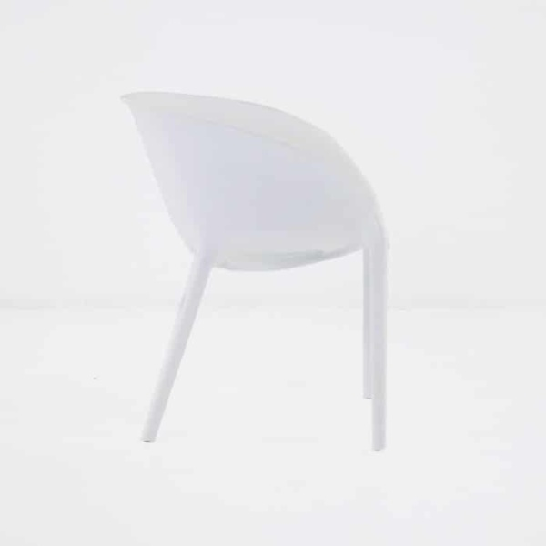 Curve Cafe Dining Chair (White)-1238