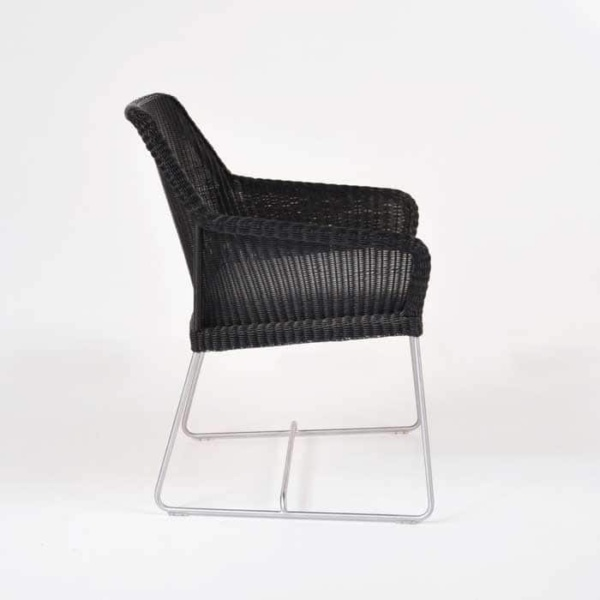 darling wicker dining chair side view