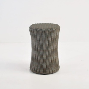 Drum Wicker Side Table (Kubu) front angle view