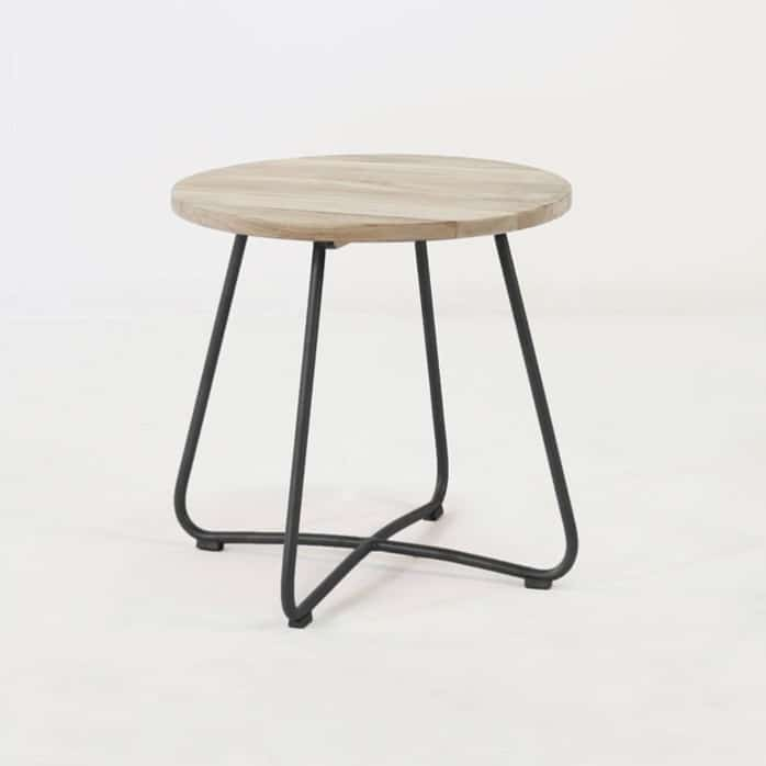 East Driftwood Side Table (Black) 0