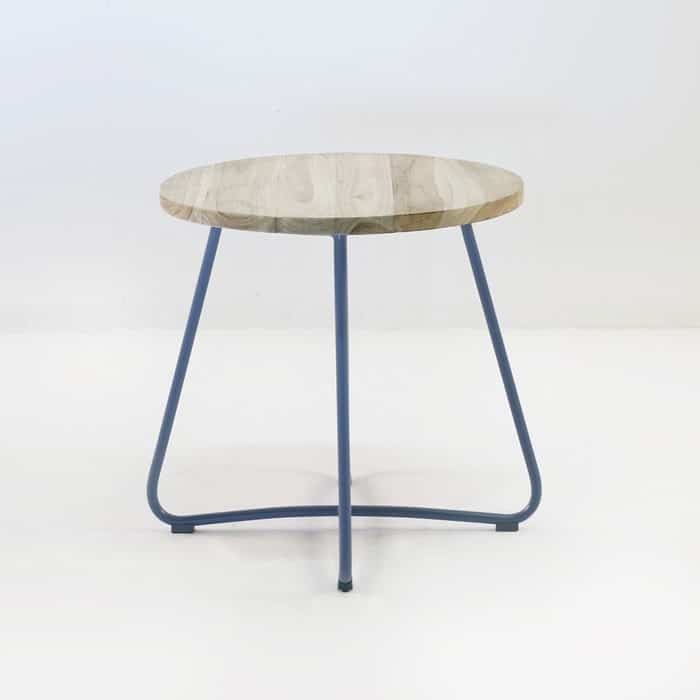 Driftwood Teak Table: East Driftwood Outdoor Side Table (Blue Jeans)