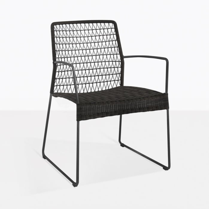 edge dining chair black side weave ecolene