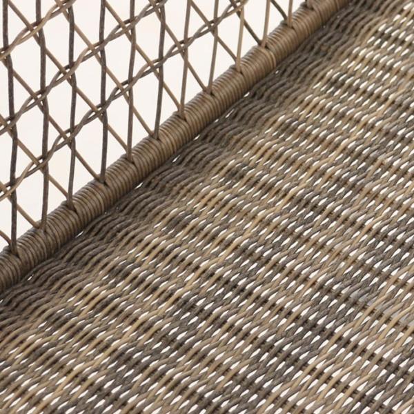 wicker arm chair in sampulut closeup view