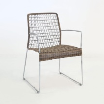 edge wicker arm chair in sampulut