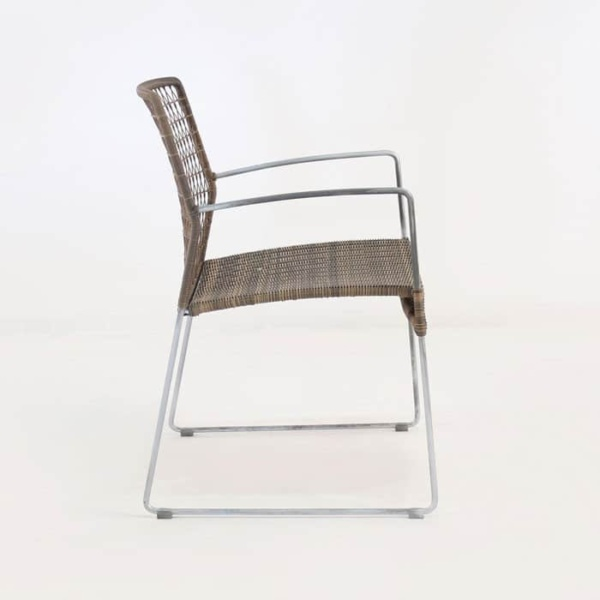 edge wicker arm chair in sampulut side view