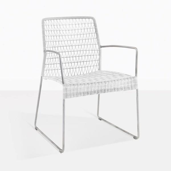 edge dining chair chalk white side weave ecolene