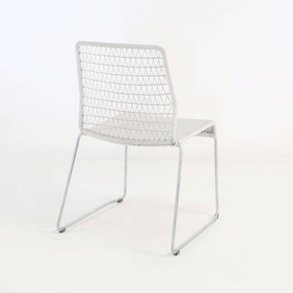 edge wicker side chair in chalk back angle view