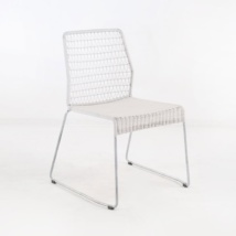 edge wicker side chair in chalk