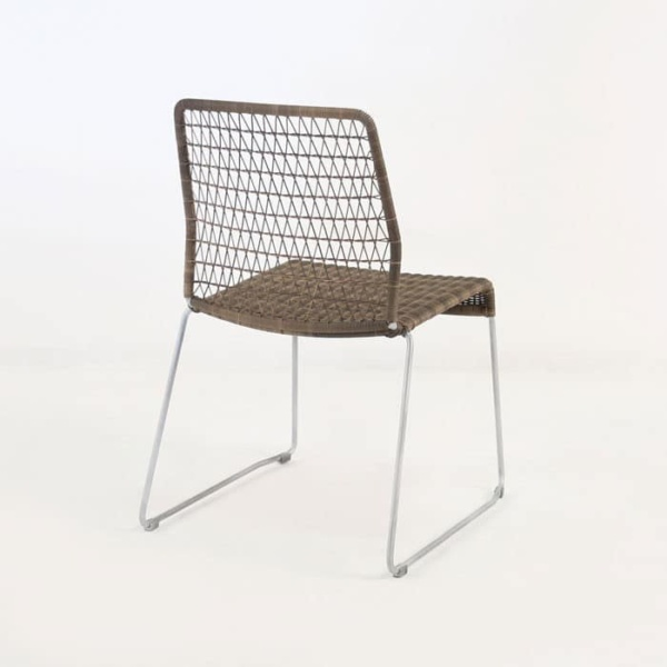 edge wicker side chair in sampulut rear view