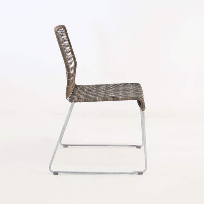 edge wicker side chair in sampulut side view
