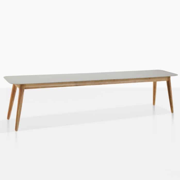edition dining bench front angle
